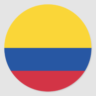 Flag of Colombia - Bandera de Colombia Classic Round Sticker