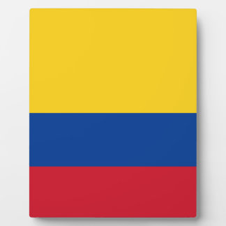 Flag of Colombia - Bandera de Colombia Plaque