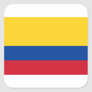 Flag of Colombia - Bandera de Colombia Square Sticker