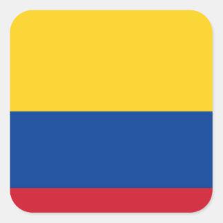 Flag of Colombia - Bandera de Colombia Square Sticker