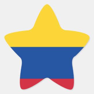Flag of Colombia - Bandera de Colombia Star Sticker