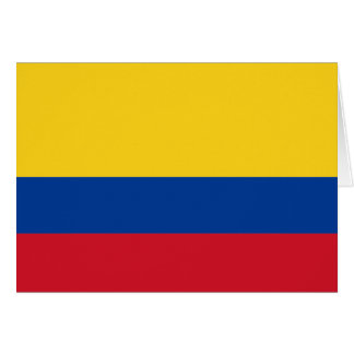 Flag of Colombia Card