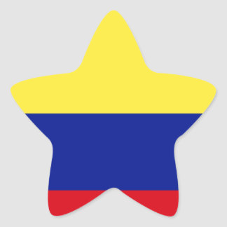 Flag of Colombia Star Sticker