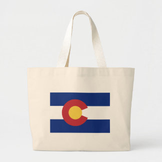 Flag of Colorado Large Tote Bag