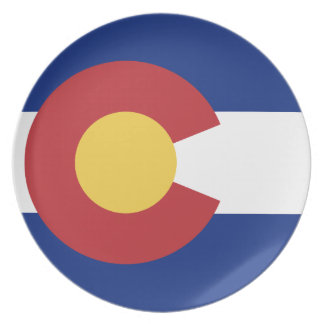 Flag of Colorado Plate