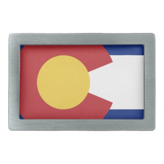 Flag of Colorado Rectangular Belt Buckles