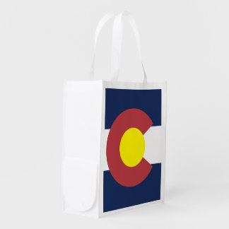 Flag of Colorado Reusable Grocery Bag