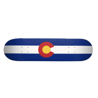 Flag of Colorado Skateboard Deck