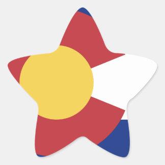 Flag of Colorado Star Sticker