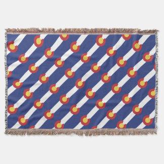 Flag of Colorado Throw Blanket