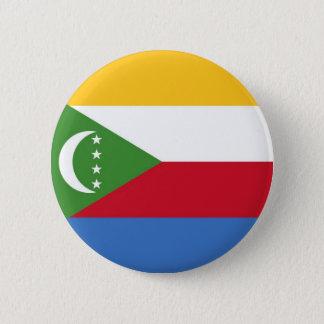Flag of Comoros on Pin / Button Badge