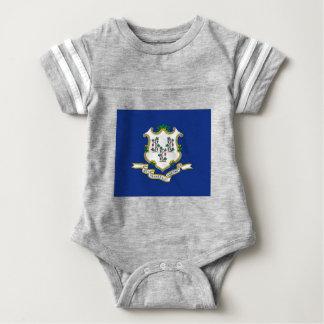 Flag Of Connecticut Baby Bodysuit