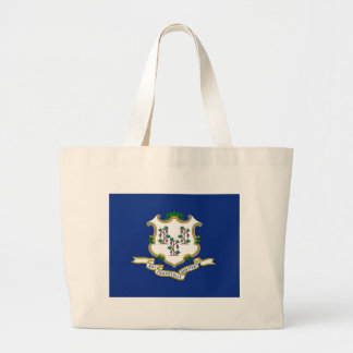 Flag Of Connecticut Large Tote Bag
