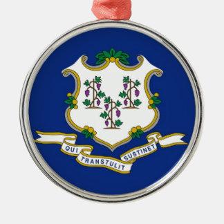 Flag Of Connecticut Metal Ornament