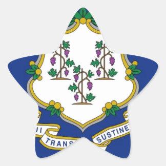 Flag Of Connecticut Star Sticker