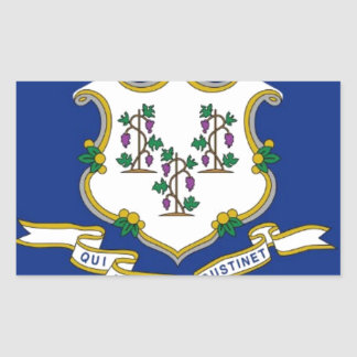 Flag Of Connecticut Sticker