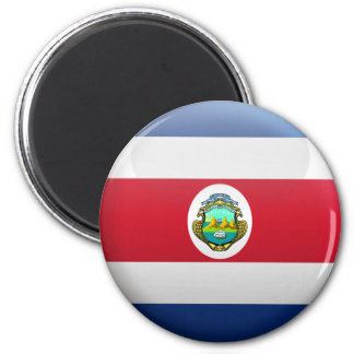 Flag of Costa Rica 2 Inch Round Magnet
