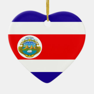 Flag of Costa Rica Ceramic Ornament