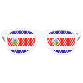 Flag of Costa Rica Party Sunglasses