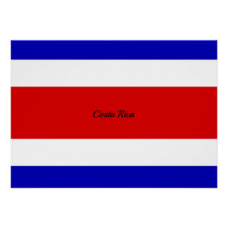 Flag of Costa Rica Poster