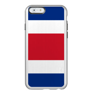 Flag of Costa Rica Silver iPhone Case