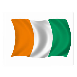 Flag of Cote d'Ivoire - Ivory Coast Postcard