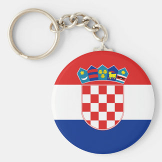 Flag of Croatia Basic Round Button Keychain