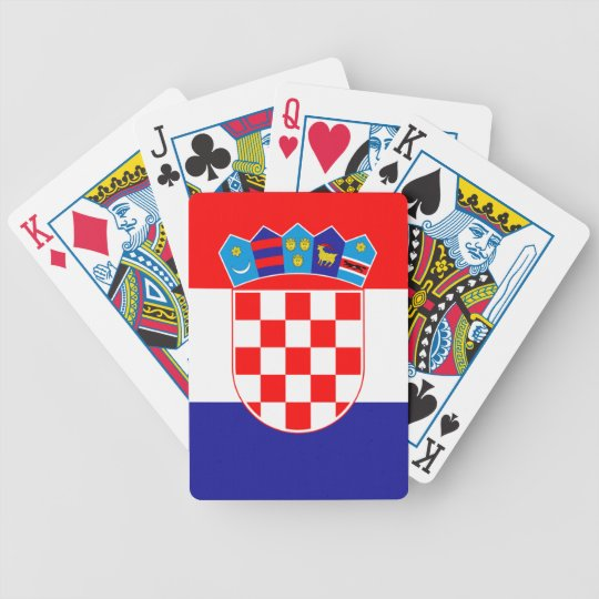 Flag of Croatia Bicycle Playing Cards