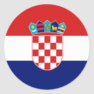 Flag of Croatia Classic Round Sticker