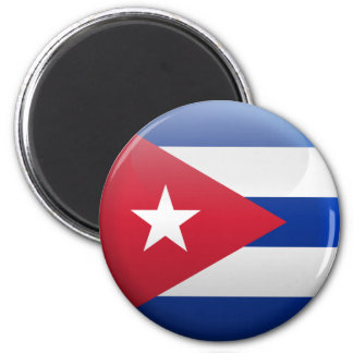 Flag of Cuba 2 Inch Round Magnet