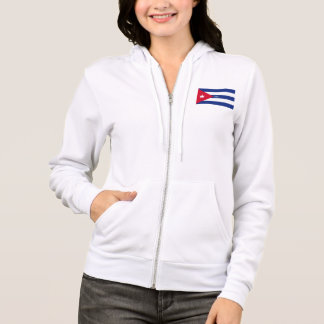 Flag of Cuba design zip hoodie