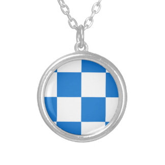 Flag of Dalfsen Silver Plated Necklace