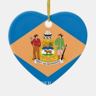 Flag Of Delaware Ceramic Ornament