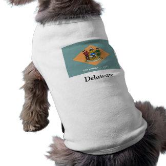 Flag of Delaware Doggie Tee Shirt