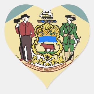 Flag of Delaware Heart Sticker