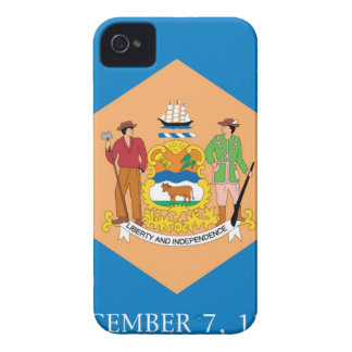 Flag Of Delaware iPhone 4 Case-Mate Cases
