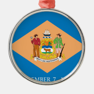 Flag Of Delaware Metal Ornament