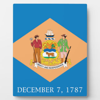 Flag Of Delaware Plaque