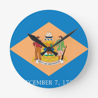 Flag Of Delaware Round Clock