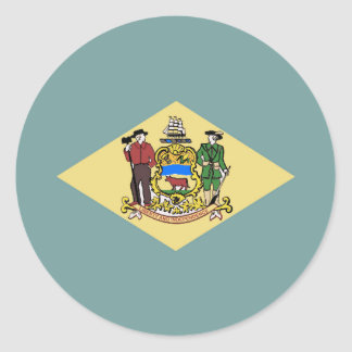 Flag of Delaware Round Sticker