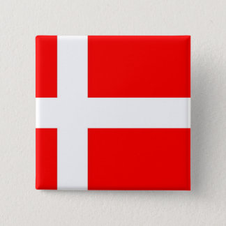 Flag of Denmark 2 Inch Square Button