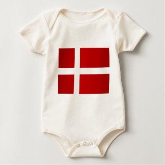 Flag of Denmark Baby Bodysuit