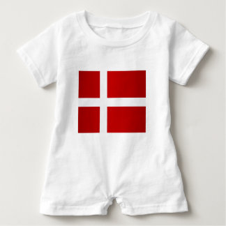 Flag of Denmark Baby Romper
