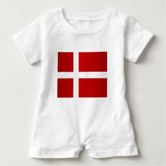 Flag of Denmark Baby Romper