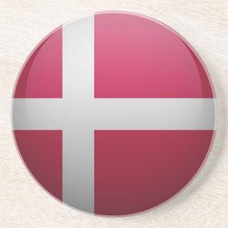 Flag of Denmark Beverage Coasters