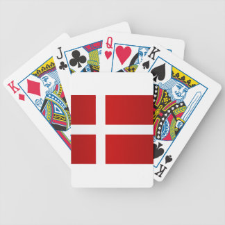 Flag of Denmark Bicycle Playing Cards