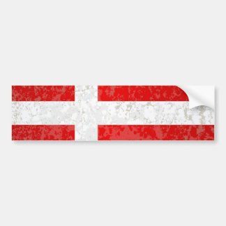 Flag of Denmark Grunge Bumper Sticker