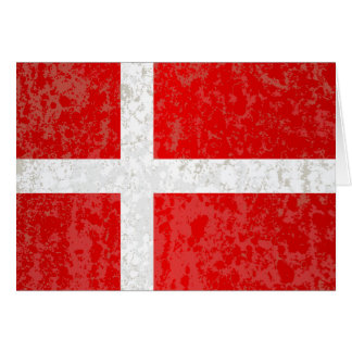 Flag of Denmark Grunge Card