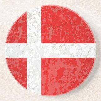 Flag of Denmark Grunge Coasters