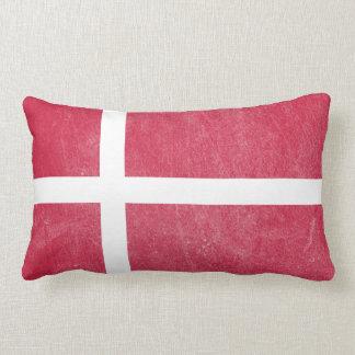 Flag of Denmark Grunge Lumbar Pillow